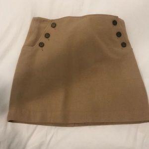 Tommy Hilfiger Camel Suede Skirt